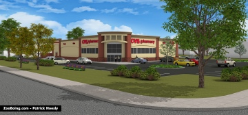 3D rendering of proposed CVS pharmacy.